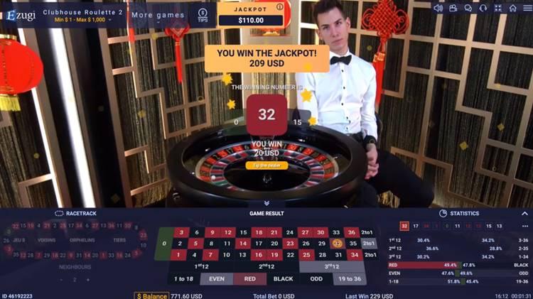 Jackpot Roulette Ezugi