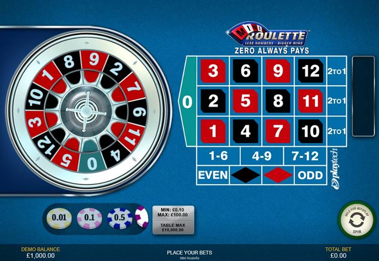 Mini Roulette Playtech Gameplay